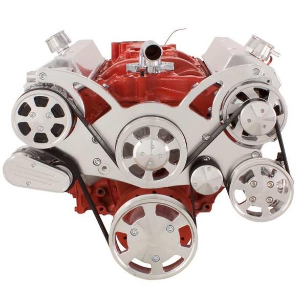 Serpentine System for SBC 283-350-400 - AC, Power Steering & Alternator