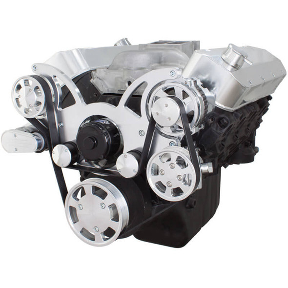 Serpentine System for 396, 427 & 454 - Power Steering & Alternator with Electric Water Pump