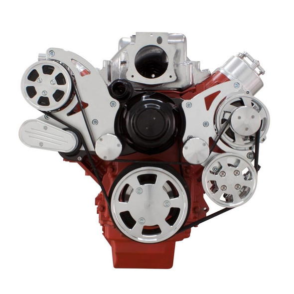 Chevy LS Engine Serpentine Kit - AC, Alternator & Power Steering with Electric Water Pump
