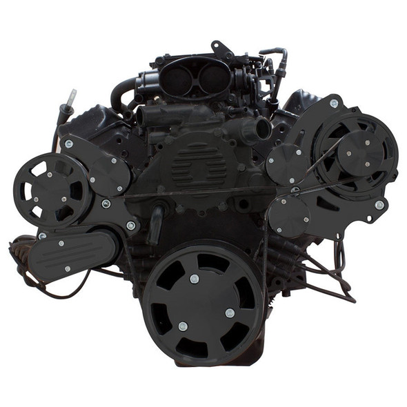 Stealth Black Serpentine System for LT1 Generation II - Alternator Only