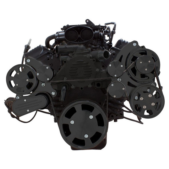 Stealth Black Serpentine System for LT1 Generation II - Power Steering & Alternator