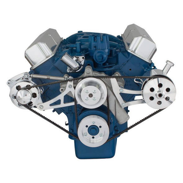 Ford 390 V-Belt System - Alternator & Power Steering with Ford Pump
