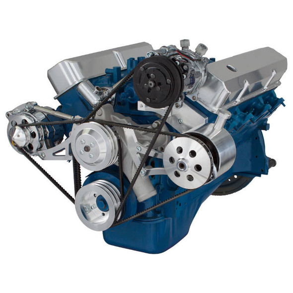 Ford 390 V-Belt System - AC, Alternator & Power Steering with Ford Pump
