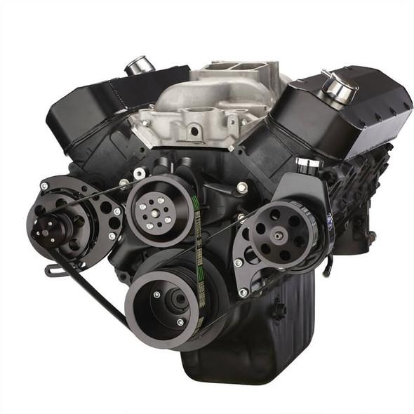 Black Chevy Big Block Serpentine Conversion Kit - Power Steering