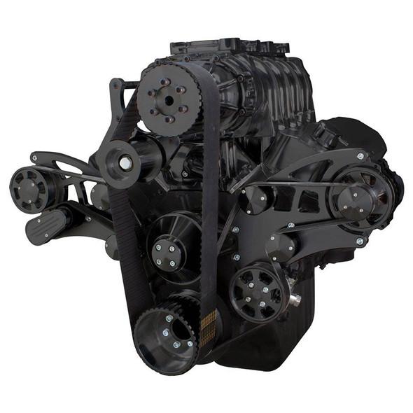 Black Serpentine System for 396, 427 & 454 Supercharger - Power Steering & Alternator