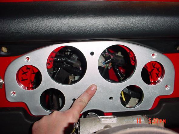 FJ40 Dash Panel for Aftermarket Gauges