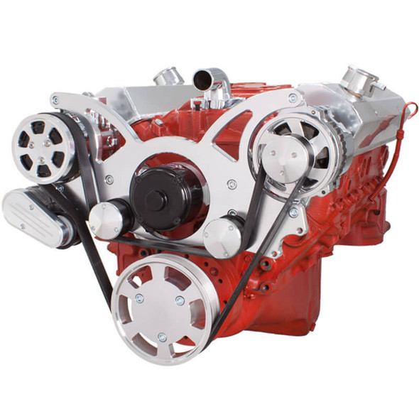 Serpentine System for SBC 283-350-400 - AC & Alternator with Electric Water Pump