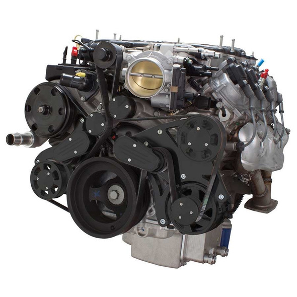 Stealth Black Serpentine System for LT4 Supercharged Generation V - Alternator Only - All Inclusive