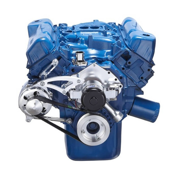 Ford 351C Serpentine System - Alternator Only, Electric Water Pump