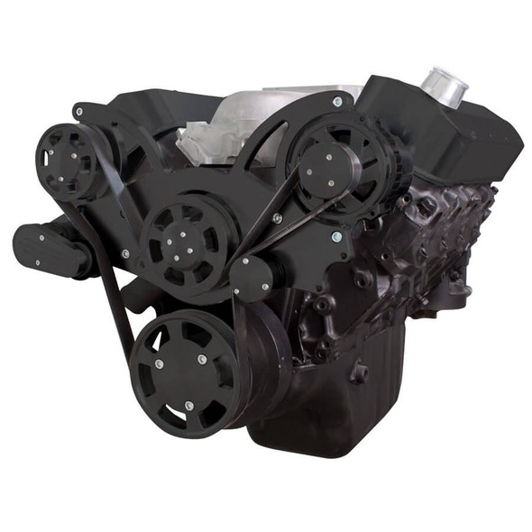 Black Serpentine System for 396, 427 & 454 - Alternator Only