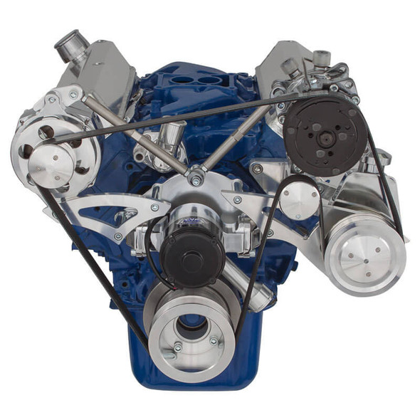 Ford 289-302-351W Serpentine Conversion Kit - AC, Alternator & Power Steering with Electric Water Pump