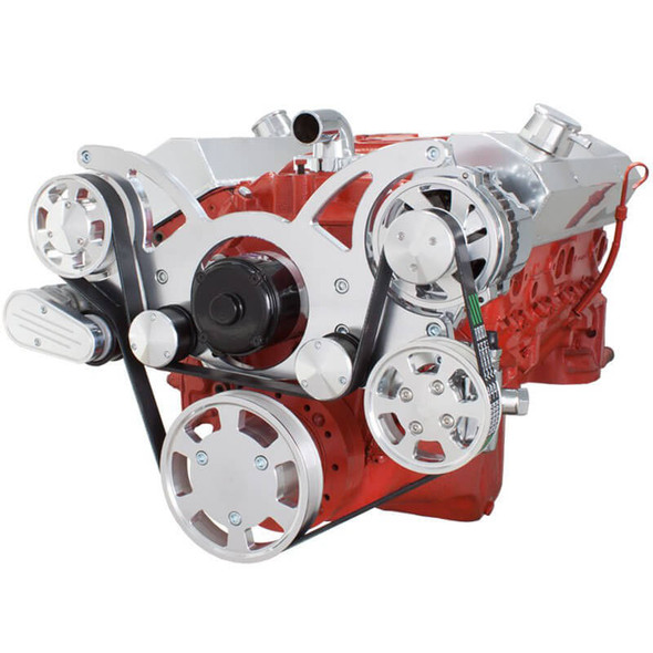 Serpentine System for SBC 283-350-400 - Power Steering & Alternator with Electric Water Pump