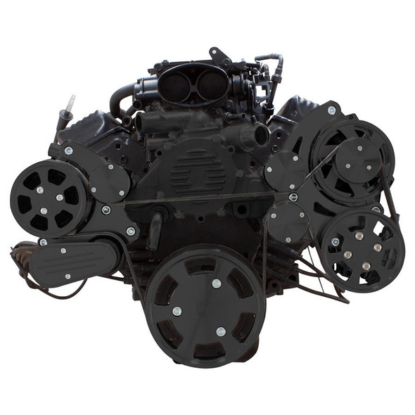 Stealth Black Serpentine System for LT1 Generation II - AC, Power Steering & Alternator