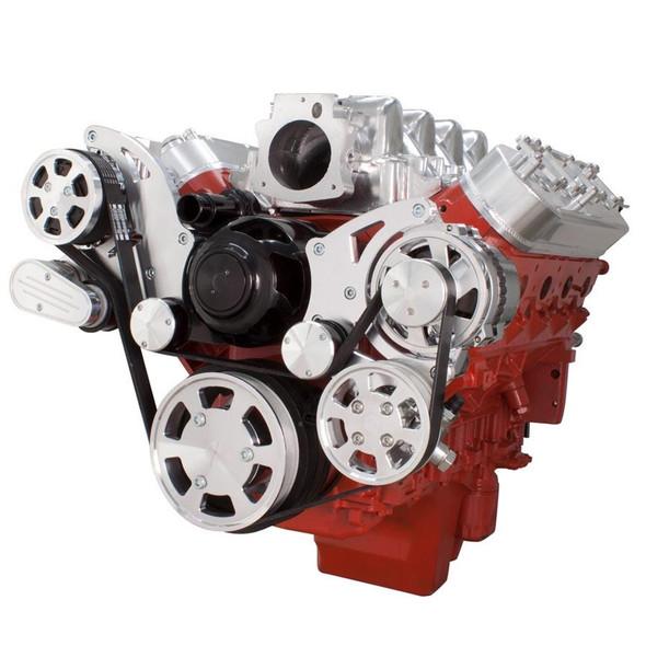 Chevy LS Engine Serpentine Kit - Power Steering & Alternator with Electric Water Pump