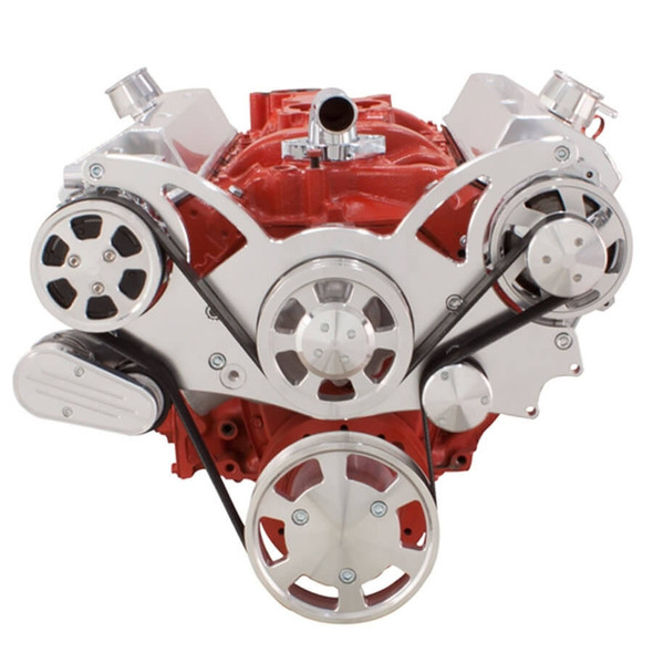 Serpentine System for SBC 283-350-400 - AC & Alternator