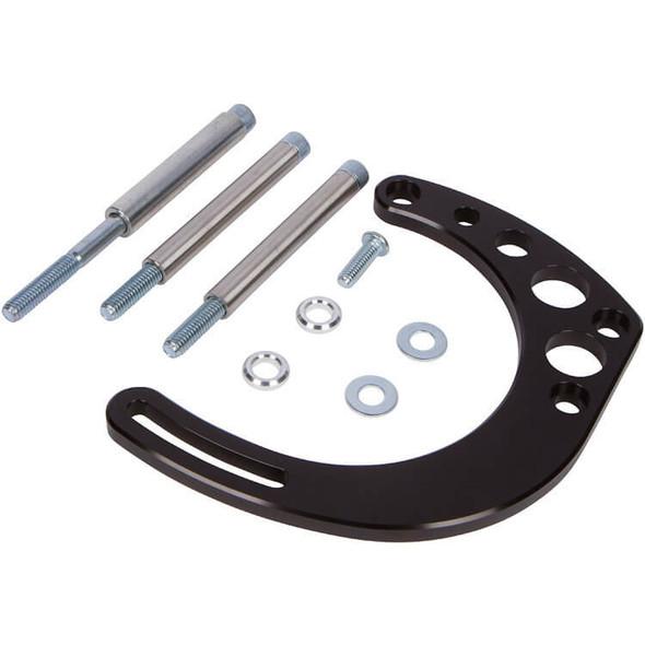 Stealth Black Chevy Small Block Alternator Bracket - Electric Water Pump