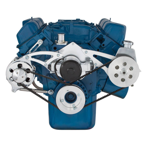 Ford 351C, 351M & 400 V-Belt System - Power Steering & Alternator with Electric Water Pump