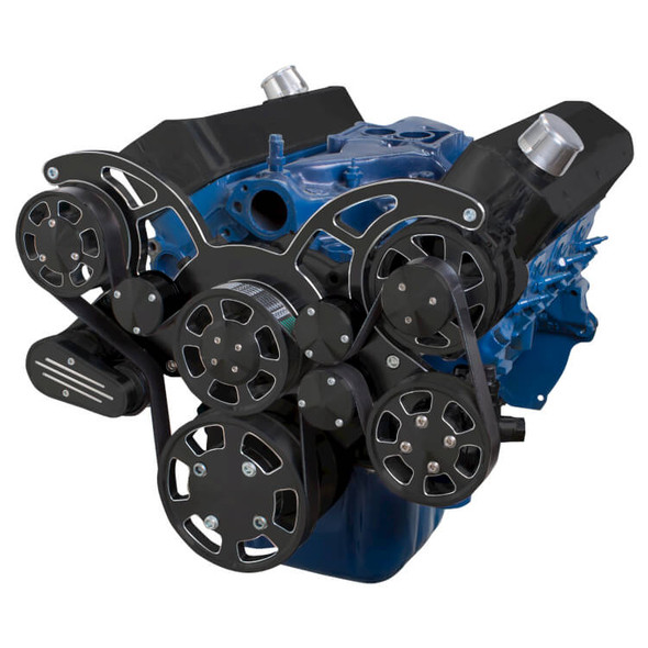 Black Diamond Serpentine System for 289, 302 & 351W - Power Steering & Alternator - All Inclusive