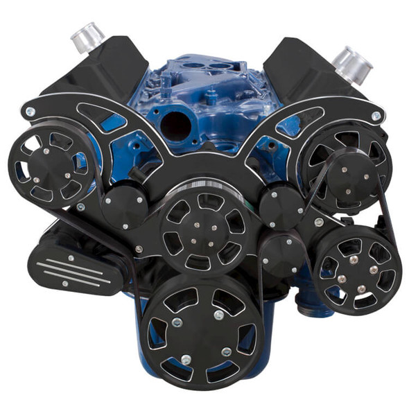 Black Diamond Serpentine System for 289, 302 & 351W - Power Steering & Alternator - All Inclusive