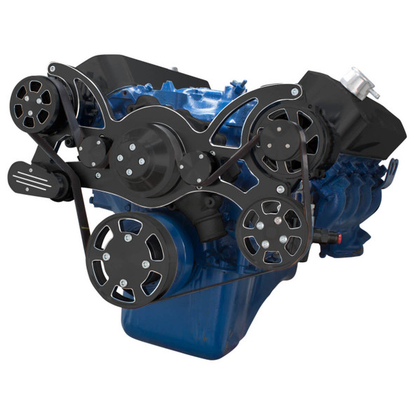 Black Diamond Serpentine System for 429 & 460 - Power Steering & Alternator - All Inclusive