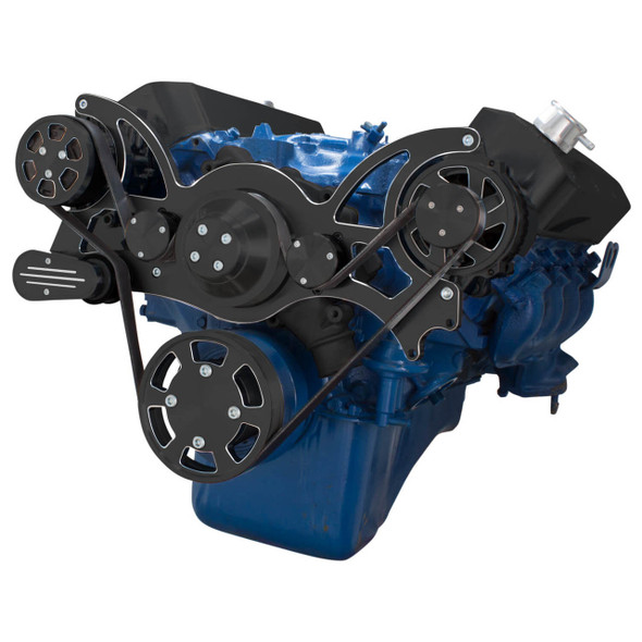 Black Diamond Serpentine System for 429 & 460 - Alternator Only - All Inclusive