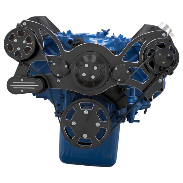 Black Diamond Serpentine System for 429 & 460 - AC & Alternator - All Inclusive