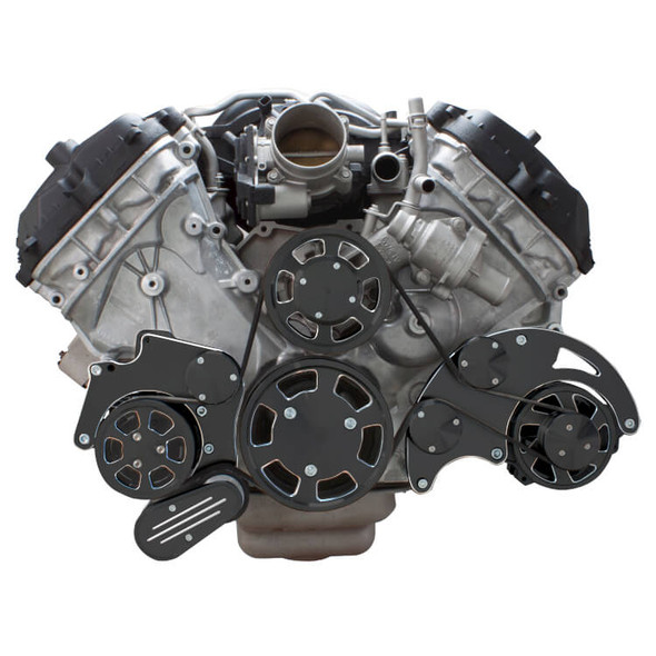 Black Diamond Serpentine System for Ford Coyote 5.0 - AC & Alternator - All Inclusive