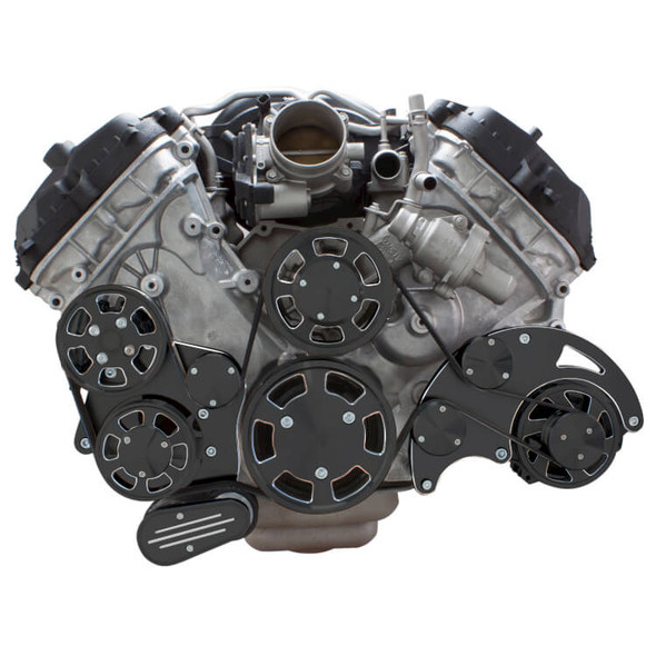 Black Diamond Serpentine System for Ford Coyote 5.0 - Alternator & Power Steering - All Inclusive
