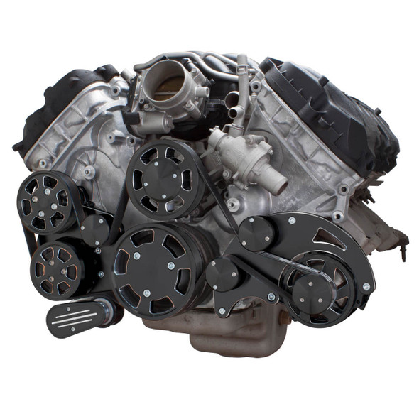 Black Diamond Serpentine System for Ford Coyote 5.0 - AC, Power Steering & Alternator - All Inclusive