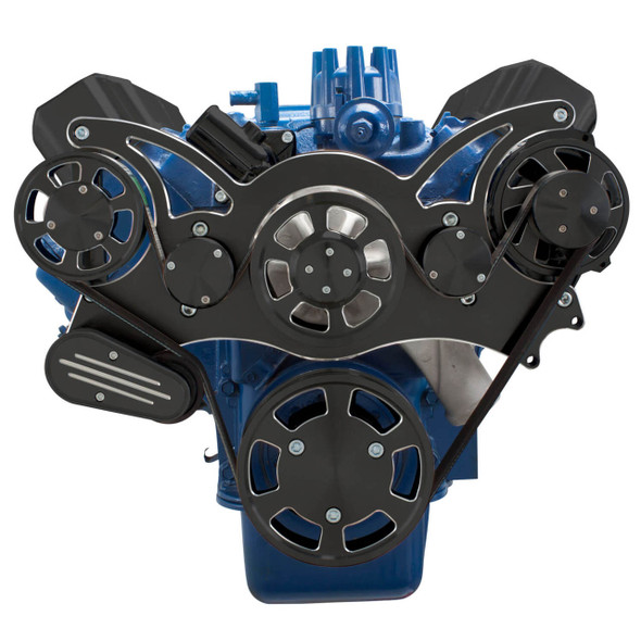 Black Diamond Serpentine System for Ford FE Engines - Alternator Only - All Inclusive