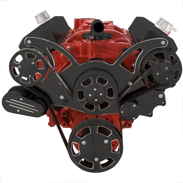 Black Diamond Serpentine System for SBC 283-350-400 - Alternator Only - All Inclusive