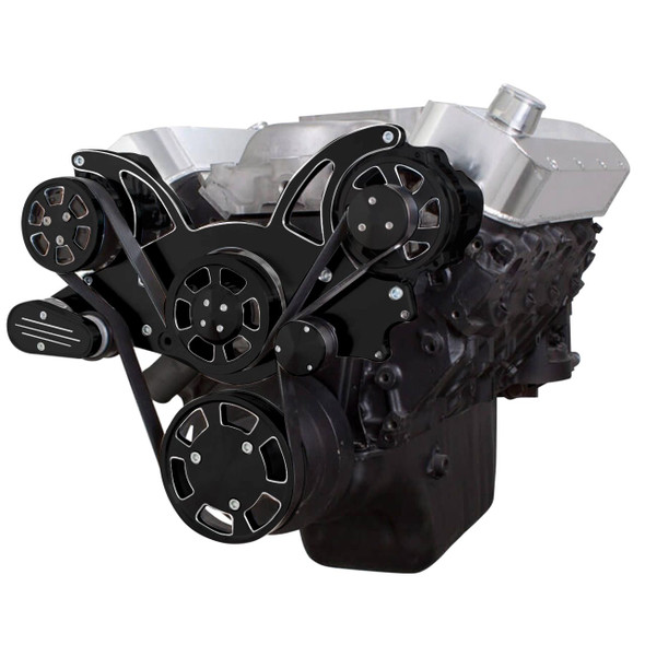 Black Diamond Serpentine System for 396, 427 & 454 - AC & Alternator - All Inclusive