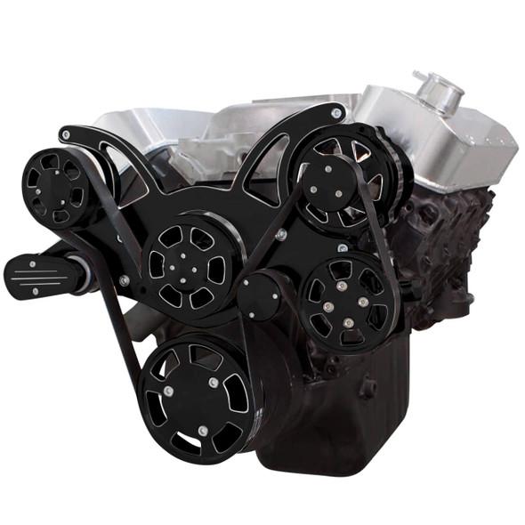 Black Diamond Serpentine System for 396, 427 & 454 - Power Steering & Alternator - All Inclusive