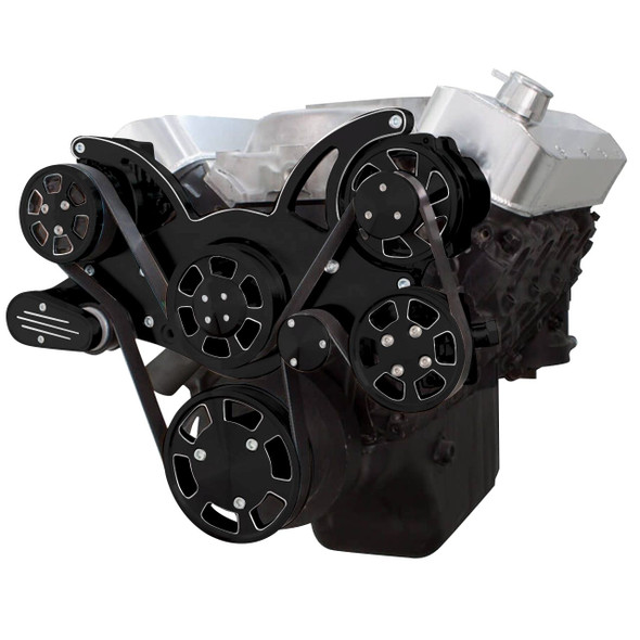 Black Diamond Serpentine System for Big Block Chevy - AC, Power Steering & Alternator - All Inclusive