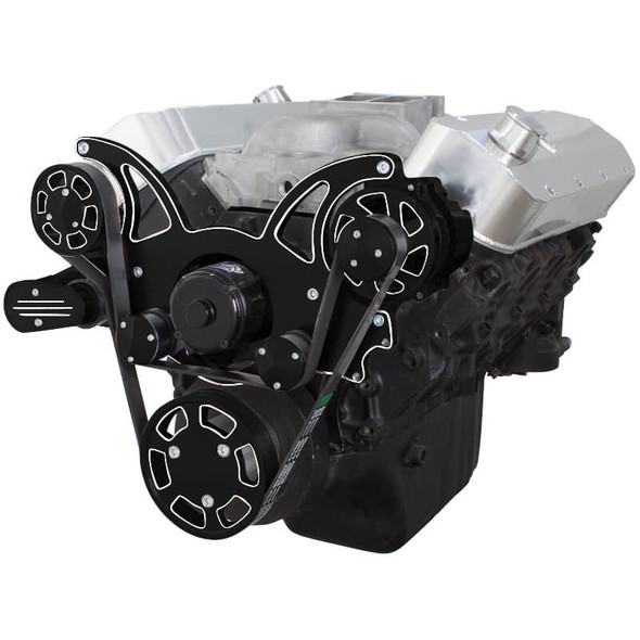 Black Diamond Serpentine System for 396, 427 & 454 - Alternator Only with Electric Water Pump - All Inclusive