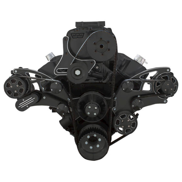 Black Diamond Serpentine System for Big Block Chevy Supercharger - AC, Power Steering & Alternator - All Inclusive