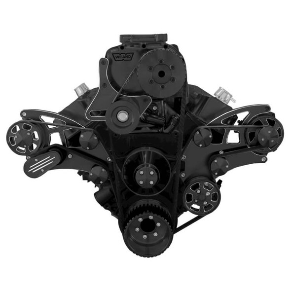 Black Diamond Serpentine System for 396, 427 & 454 Supercharger - Power Steering & Alternator - All Inclusive