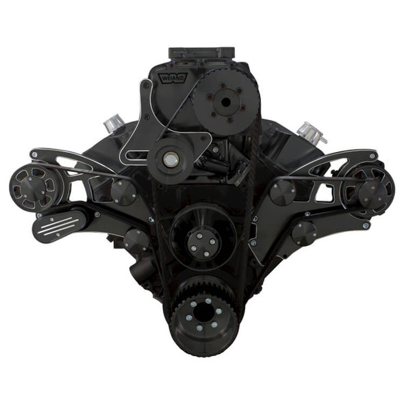 Black Diamond Serpentine System for 396, 427 & 454 Supercharger - Alternator Only - All Inclusive