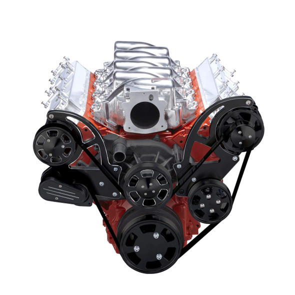 Black Diamond Chevy LS Serpentine Kit - Power Steering & Alternator