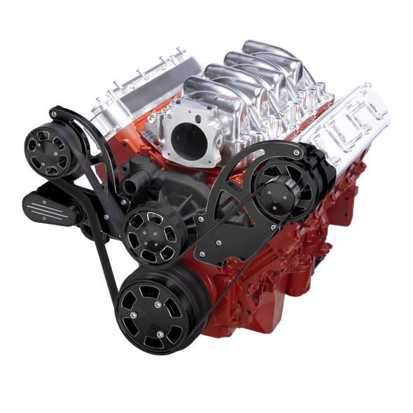 Black Diamond Chevy LS Engine Serpentine Kit - Alternator Only