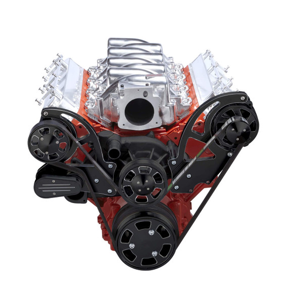 Black Diamond Chevy LS Engine Serpentine Kit - Alternator Only
