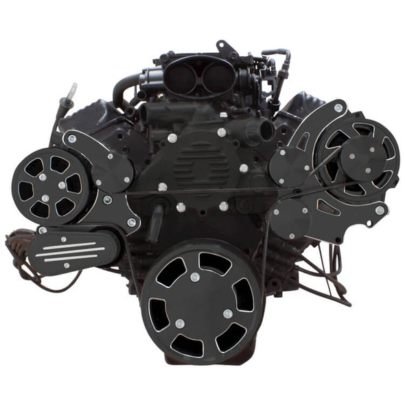 Black Diamond Serpentine System for LT1 Generation II - AC & Alternator - All Inclusive