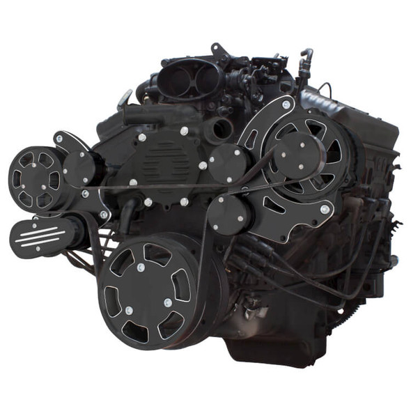 Black Diamond Serpentine System for LT1 Generation II - Alternator Only - All Inclusive