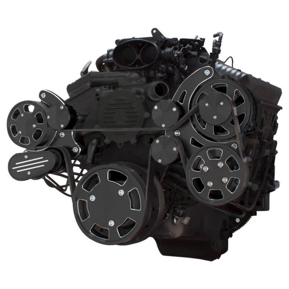 Black Diamond Serpentine System for LT1 Generation II - Power Steering & Alternator - All Inclusive