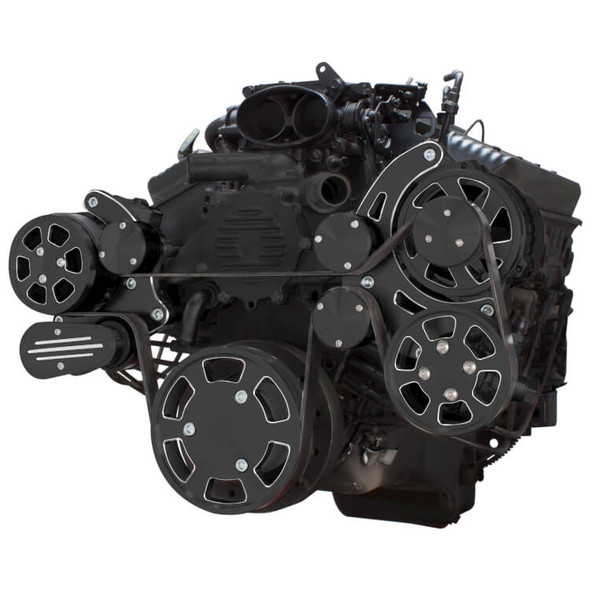 Black Diamond Serpentine System for LT1 Generation II - AC, Power Steering & Alternator - All Inclusive