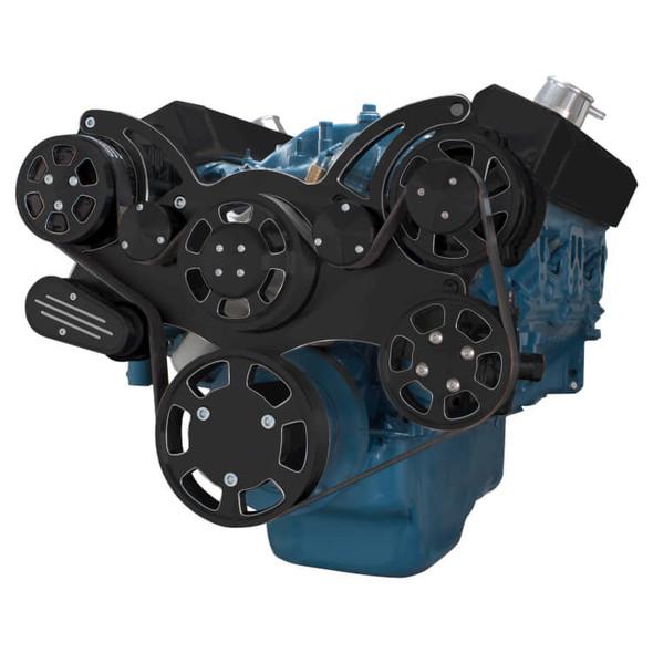 Black Diamond Serpentine System for Small Block Mopar - AC, Power Steering & Alternator - All Inclusive