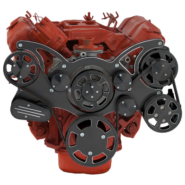 Black Diamond Serpentine System for Big Block Mopar - Power Steering - All Inclusive