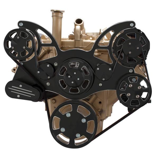 Black Diamond Serpentine System for Oldsmobile 350-455 - Power Steering & Alternator - All Inclusive
