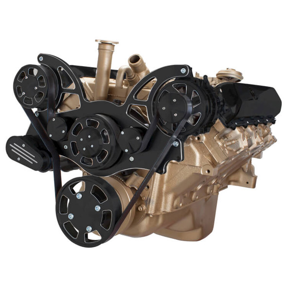 Black Diamond Serpentine System for Oldsmobile 350-455 - Alternator Only - All Inclusive