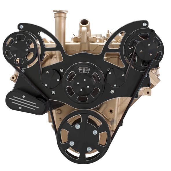 Black Diamond Serpentine System for Oldsmobile 350-455 - Alternator Only - All Inclusive